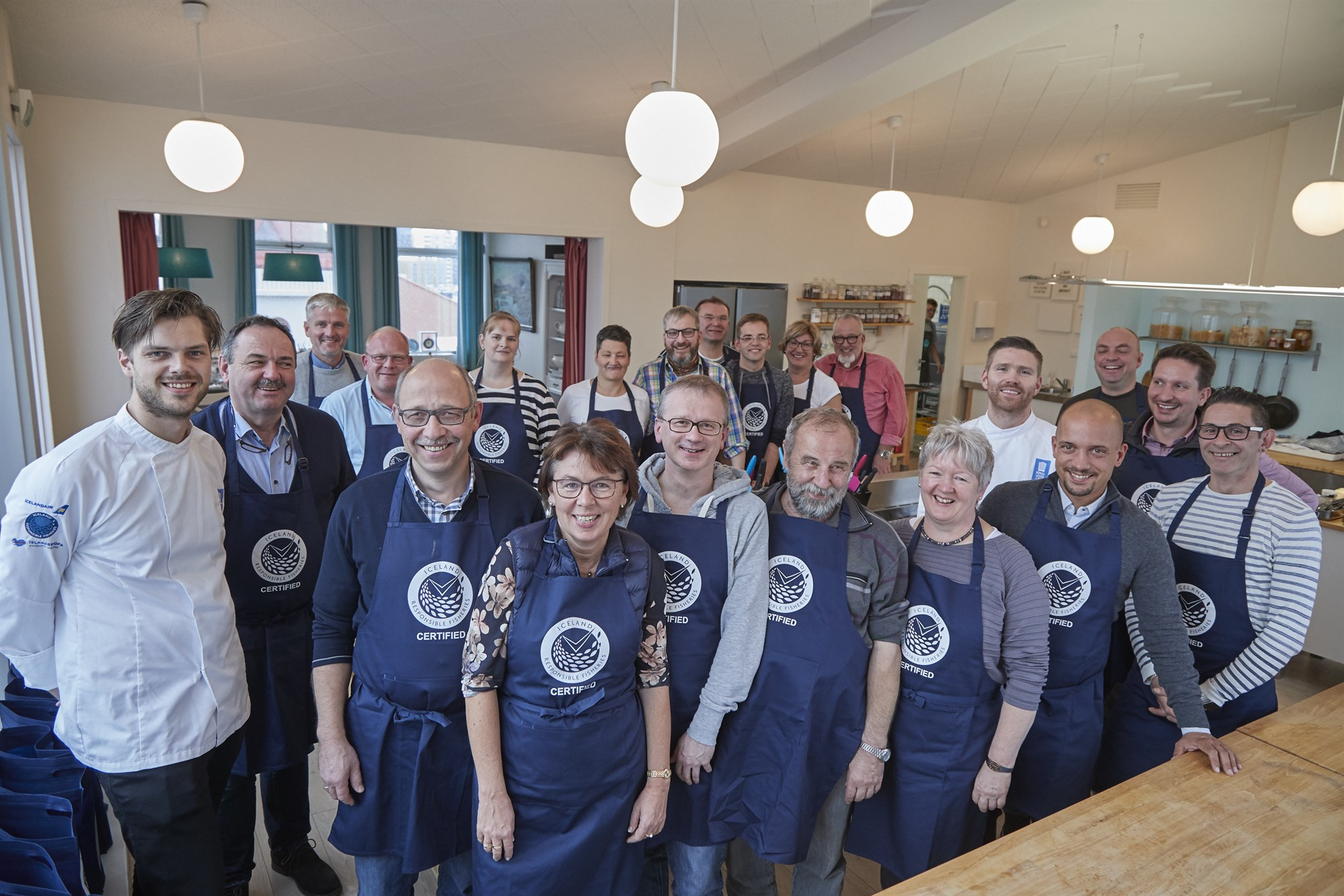 German chefs learn about seafood products from Iceland