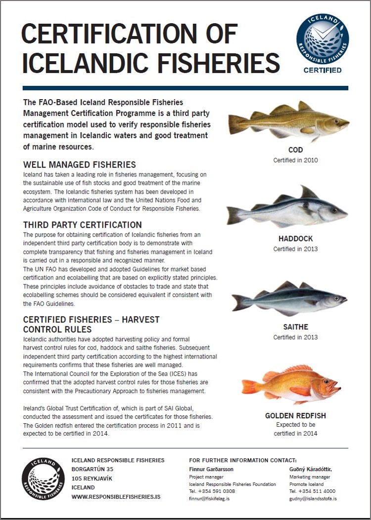 Iceland Responsible Fisheries for the benefit of future
