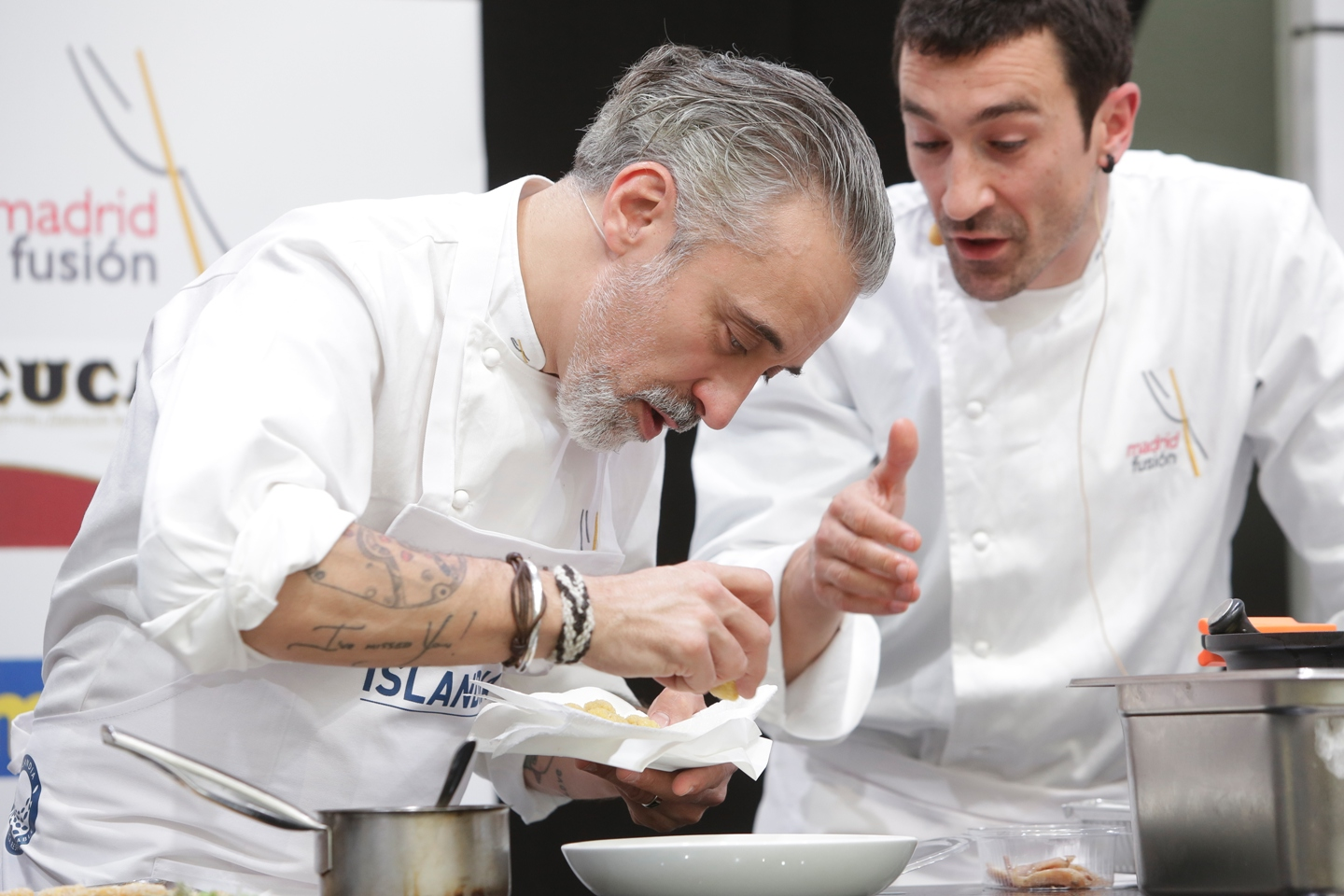 Spanish Michelin starred chefs appreciate salted cod from Iceland